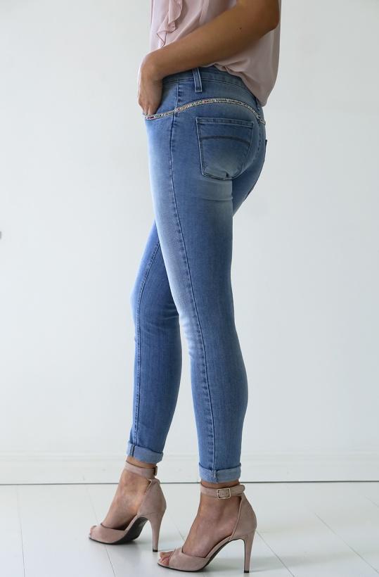 RINASCIMENTO - Jeans med Strasskanter