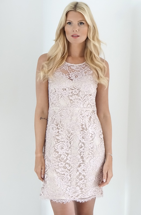 RINASCIMENTO - Pink Lace Dress