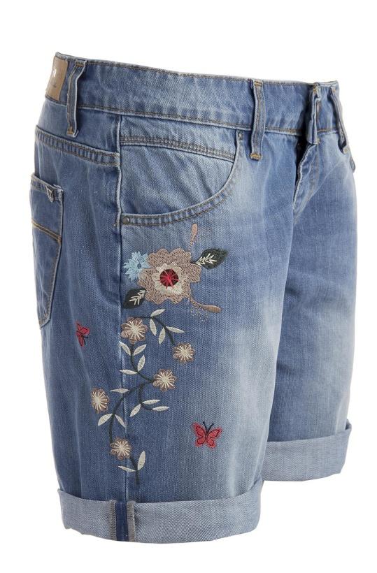 RINASCIMENTO -Jeansshorts med Brodyr