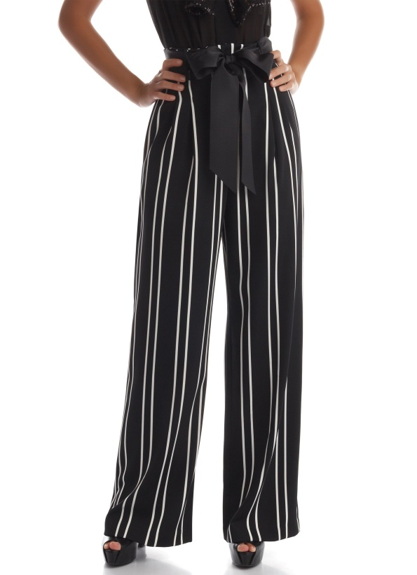 RINASCIMENTO - Striped Pant with Bow