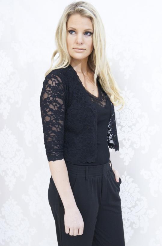 Rosemunde - 3/4 Cardigan Lace Black