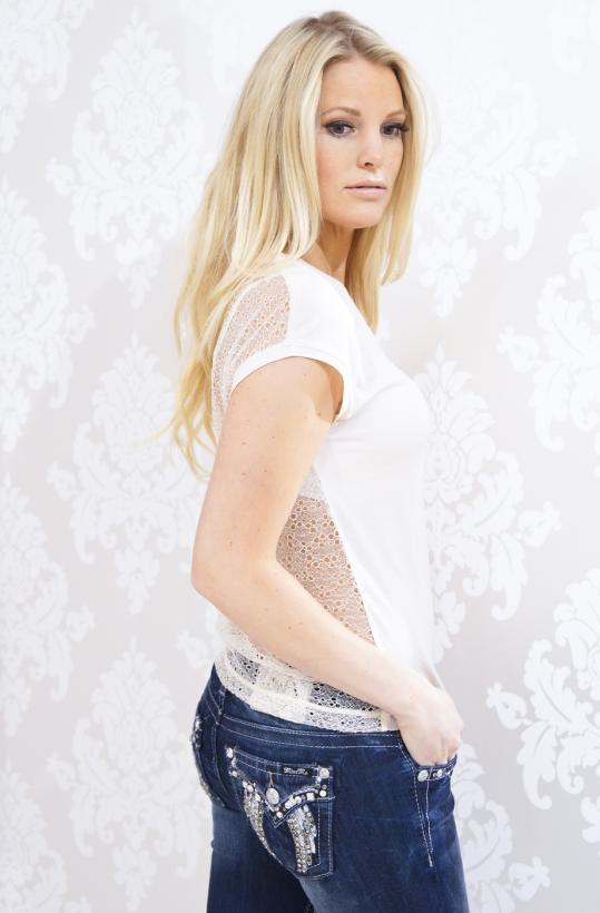 Rosemunde Tshirt with lace back