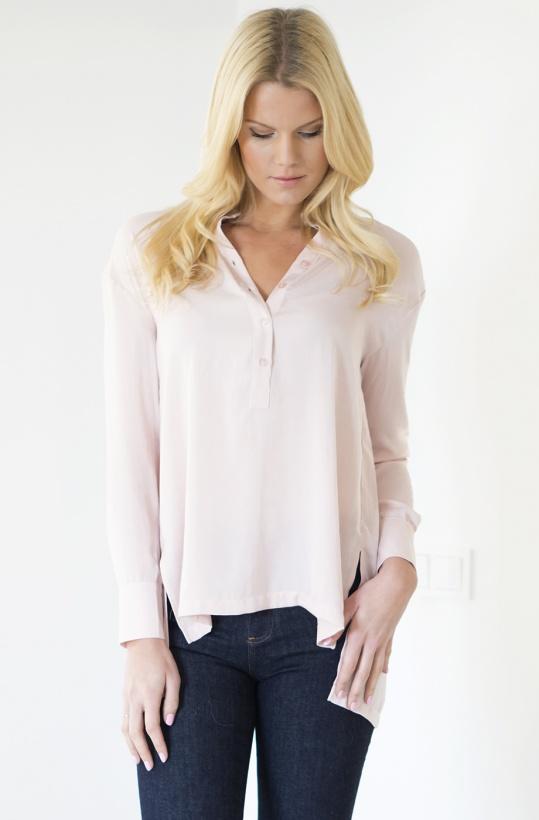 ROSEMUNDE - Skjorta med vackra veck bak