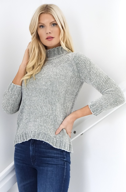 RUT & CIRCLE - Chenille Polo Knit