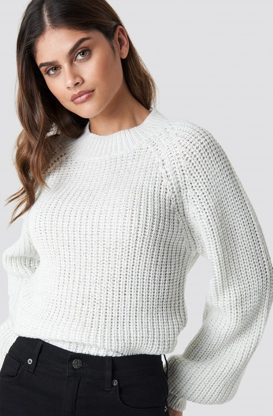 RUT & CIRCLE - Bell Sleeve Lurex Knit