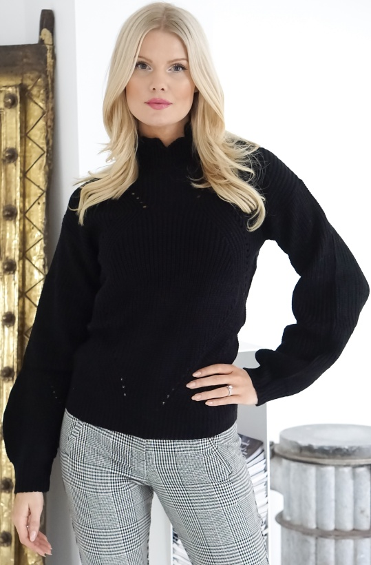 RUT & CIRCLE - Frill Neck Sweater