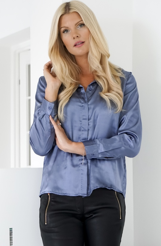 RUT & CIRCLE - Rebecka Satin Blouse