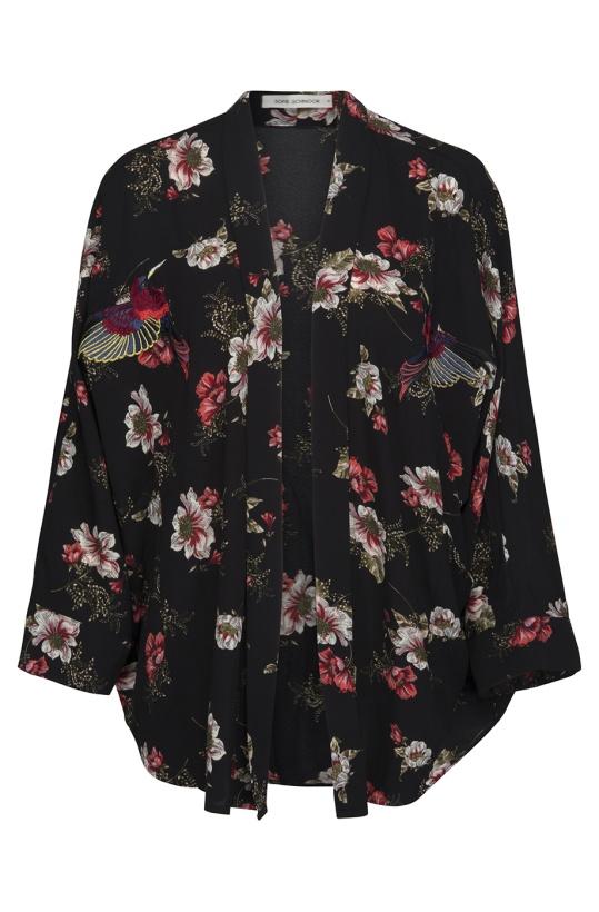 SOFIE SCHNOOR - Kimono Black Flower