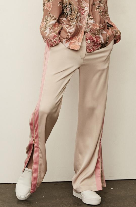 GUSTAV - Loose Wide leg Pant Creme Coral