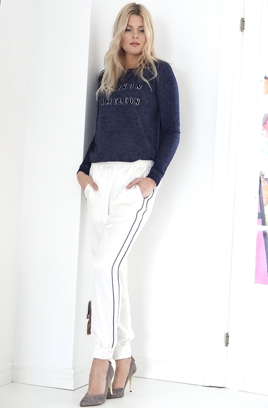CLOSED - White Silk Relaxed Pants