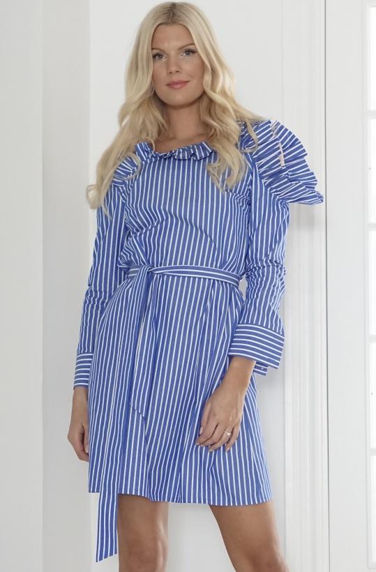 SLEEK ATELIER - Ariel Dress Blue White Stripe