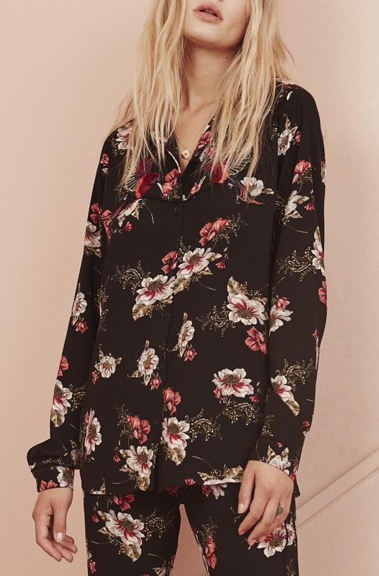SOFIE SCHNOOR - Skjorta Black Flower
