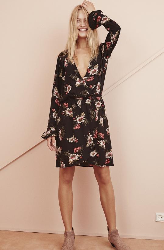 SOFIE SCHNOOR - Black Flower Dress
