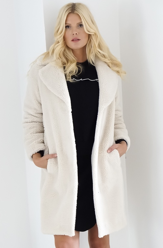 STAND - Camille Cocoon Jacket - White