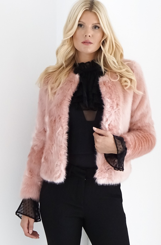 STAND - Sofia Fake Fur Pink