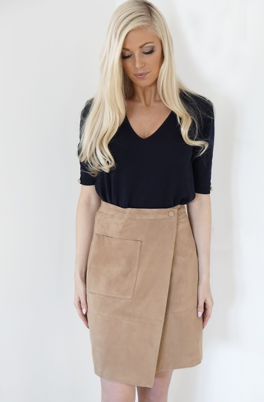 STAND - Millie Skirt Suede Sand