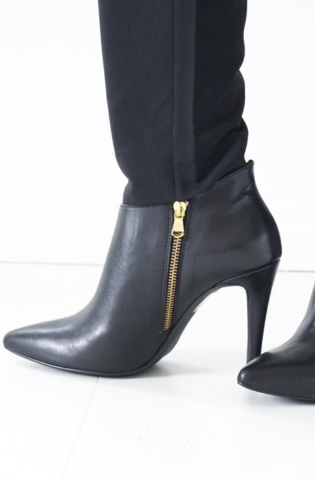 Stylesnob - Stövlett svart skinn
