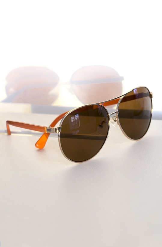 THORBERG - Meja Orange Solglasögon