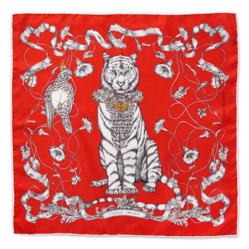 EMMA FÄLLMAN - Mini Silk Scarf Tiger Red