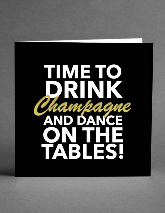 CARD STORE - Time to Drink Champagne