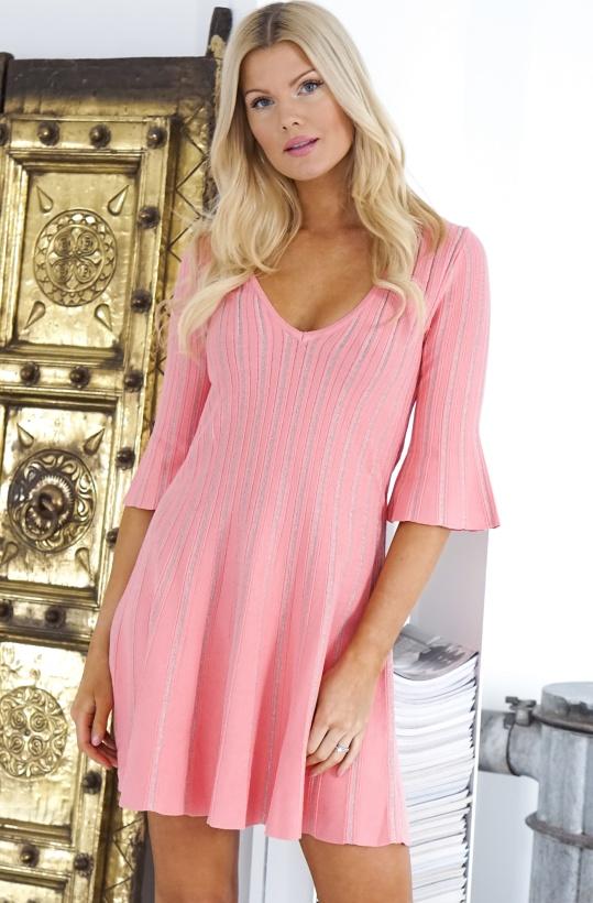 TWINSET - Knit Dress with Lurex Stripes