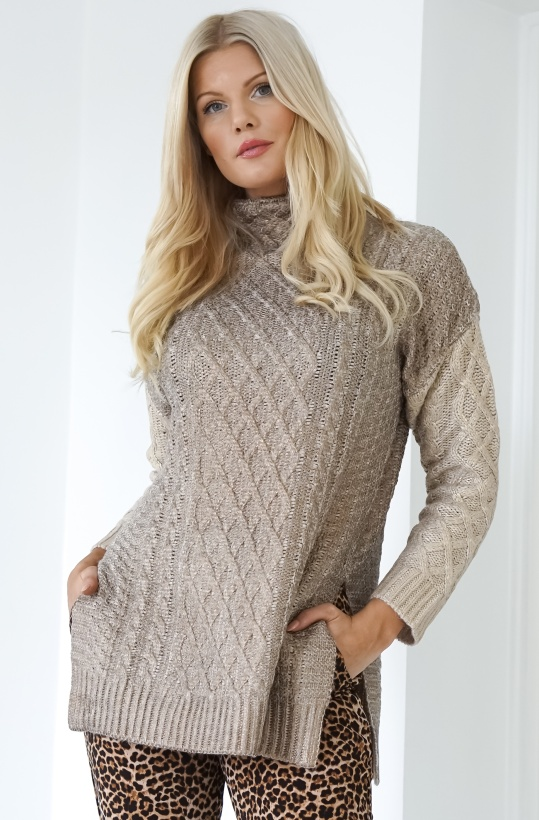 TWINSET - Gold Knitted Sweater Long
