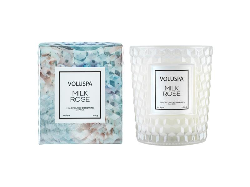 VOLUSPA - Boxed Textured Glass Candle