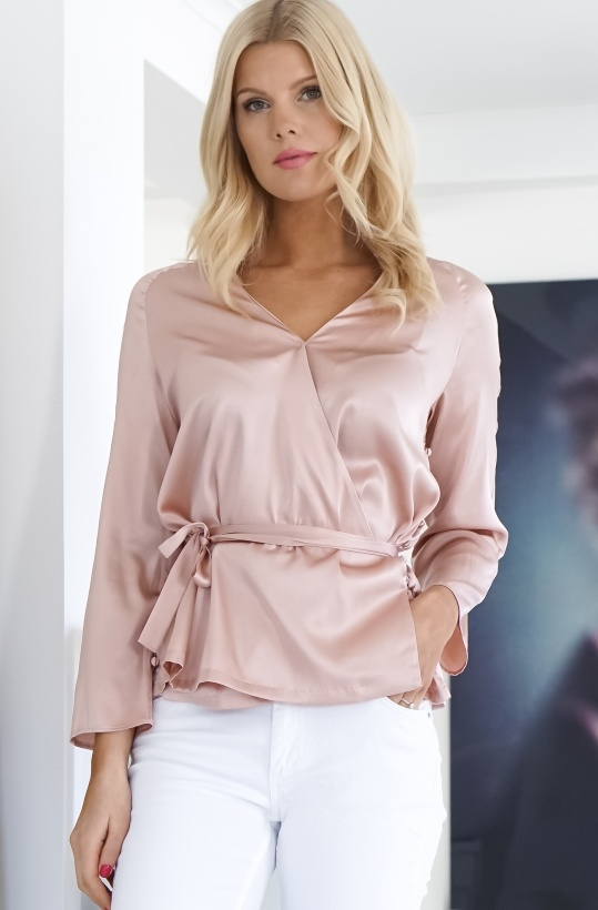 VICTORIA CHAN - Andrea Silk Blouse With Buttons