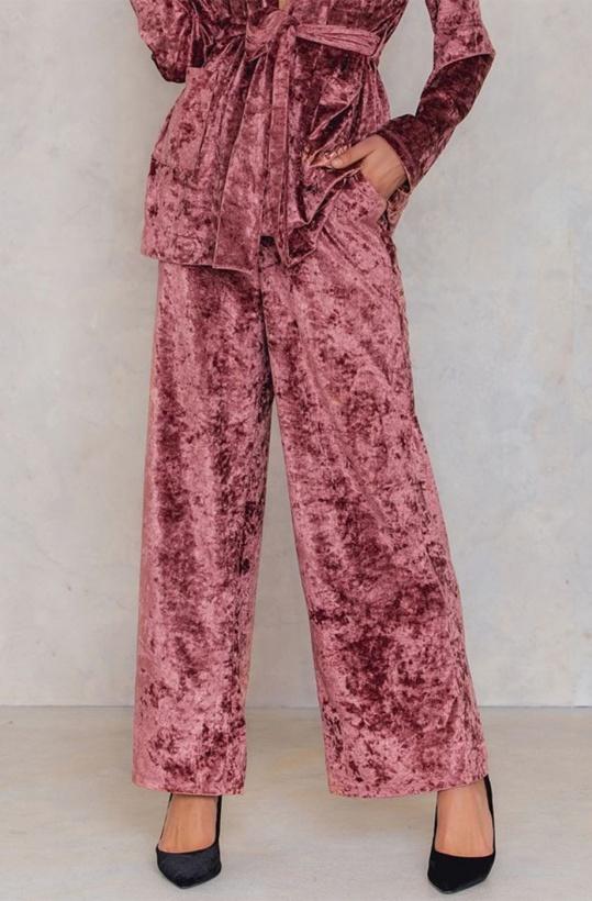 NA-KD - Velvet Flared Pants