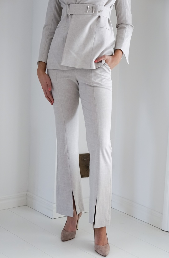 VIKTORIA CHAN - Emilia Slit Flared Pants