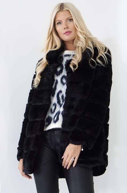 RUT & CIRCLE- Panel Faux Fur