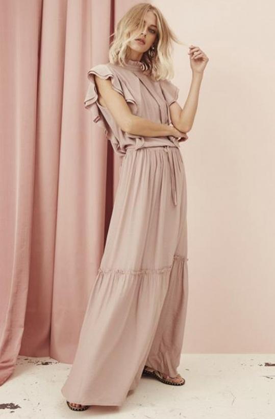 SOFIE SCHNOOR - Rose Långklänning