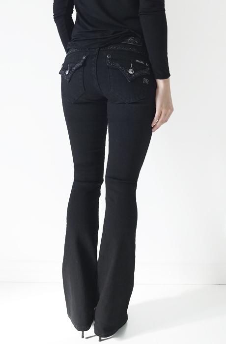 svarta bootcut jeans