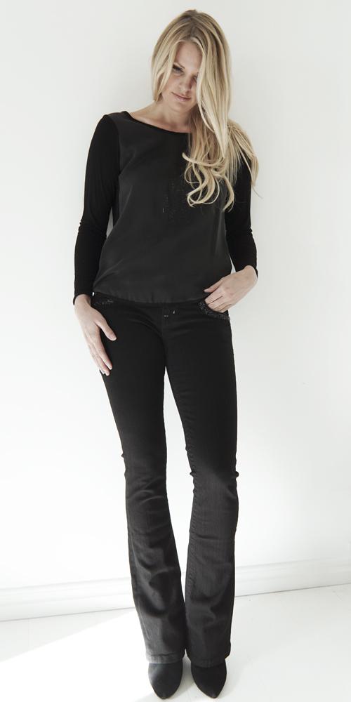 Miss Me Svarta Jeans Setting Bootcut - Plain Vanilla AB 86e379e99842c