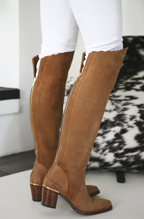 over knee boots mocka