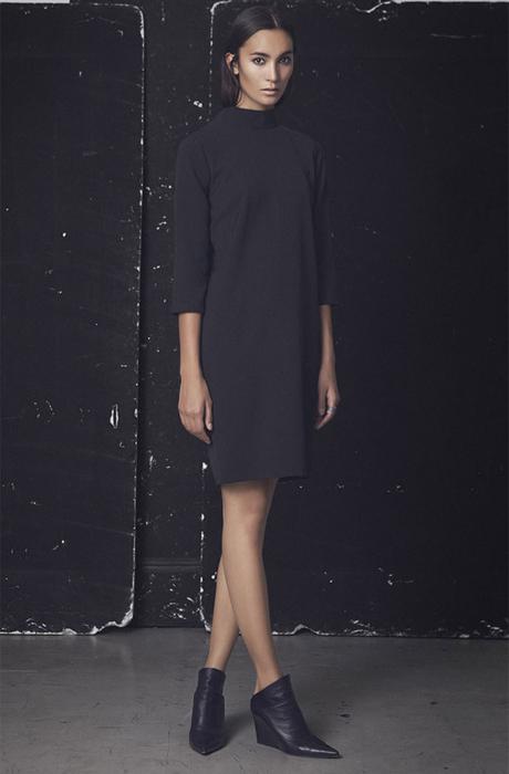 svart rak klänning