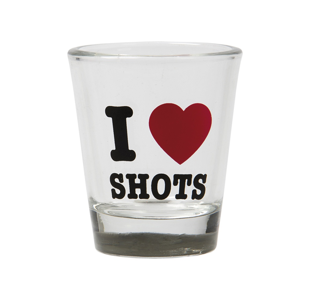 "SHOTGLAS ""I LOVE SHOTS"""