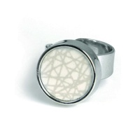 SÄGEN VIRRVARR SMALL LIGHT GREY RING