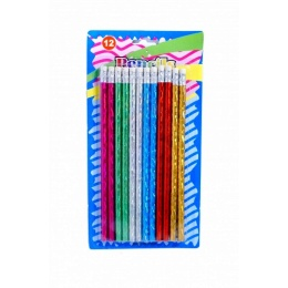 METALLIC PENCILS 12PCS