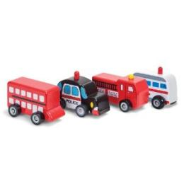 WOODEN WHEEL TOY CARS