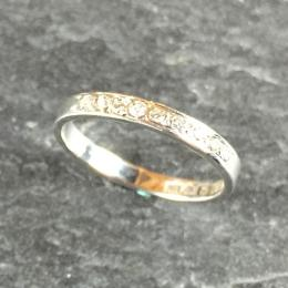 ALLIANSRING 18K VITGULD