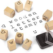 WOODEN LETTER STAMPS