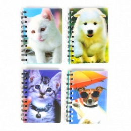 NOTEBOOK DOG/CAT 3D