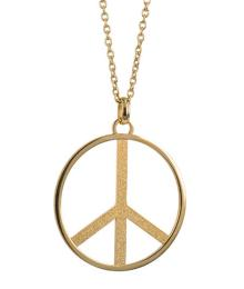 PEACE BIG NECKLACE GOLD