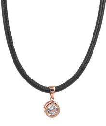 TINDRA LEATHER NECKLACE ROSÉ