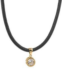TINDRA LEATHER NECKLACE GOLD