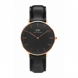 DW CLASSIC BLACK SHEFFIELD ROSÉ 36MM