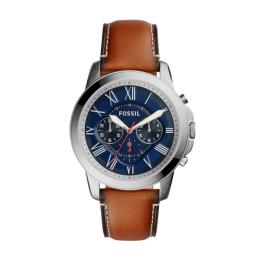 FOSSIL GRANT MEN BLUE NUBUCK LEATHER