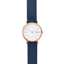 SKAGEN WATCH ROSE GOLD LEATHER