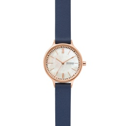 SKAGEN STAINLESS STEEL ROSE GOLD LEATHER